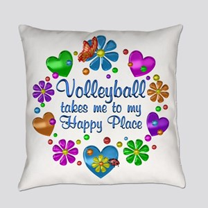 Volleyball My Happy Place Everyday Pillow