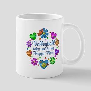 Volleyball My Happy Place 11 oz Ceramic Mug