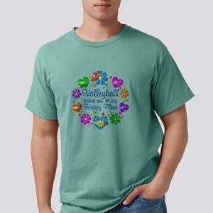 Volleyball My Happy Plac Mens Comfort Colors Shirt