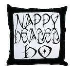 Nappy Headed Ho Tribal Design Throw Pillow