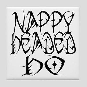 Nappy Headed Ho Tribal Design Tile Coaster