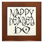 Nappy Headed Ho Tribal Design Framed Tile