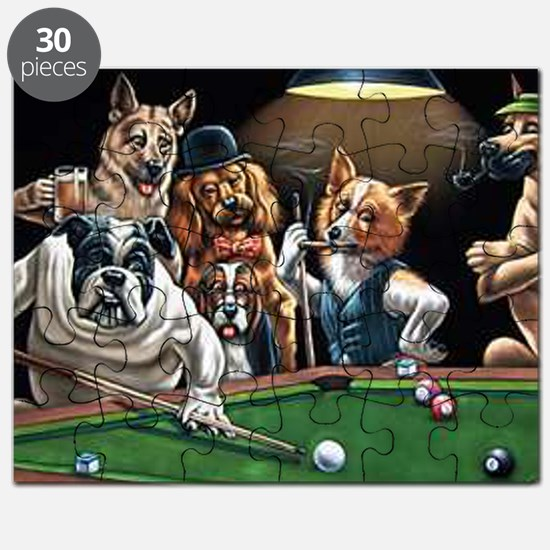 Dogs Playing Billiards Puzzle