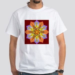 Flower Mandala White T-Shirt