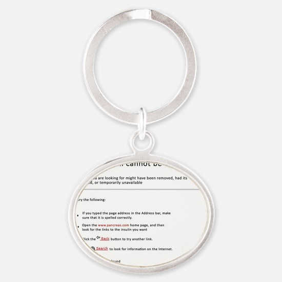 Beta cell Oval Keychain
