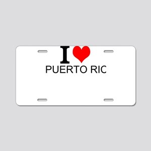 I Love Puerto Rico Aluminum License Plate