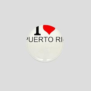I Love Puerto Rico Mini Button