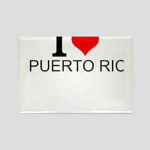 I Love Puerto Rico Magnets