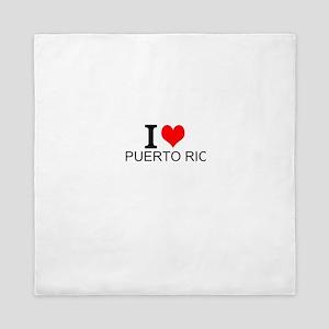 I Love Puerto Rico Queen Duvet