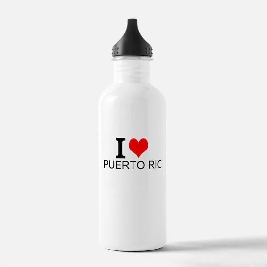 I Love Puerto Rico Water Bottle