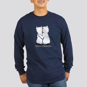 Hugging Westies Long Sleeve Dark T-Shirt