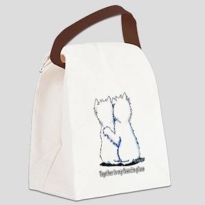 Hugging Westies Canvas Lunch Bag