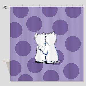Hugging Westies Shower Curtain