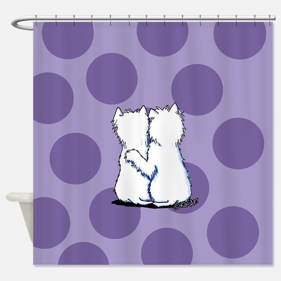 Hugging Westies Shower Curtain