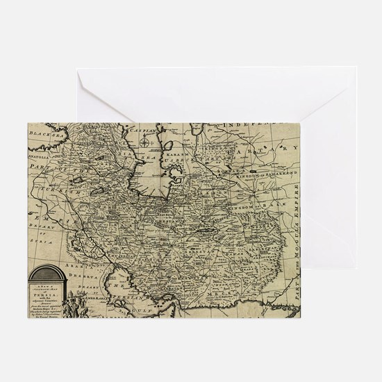 Persia Ancient Map 1747 Greeting Card