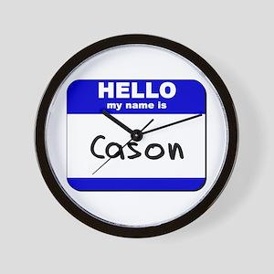 hello my name is cason  Wall Clock