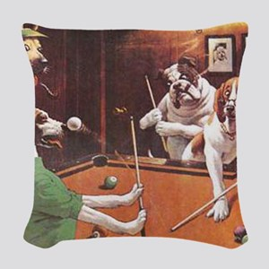 The Scratching Beagle Woven Throw Pillow