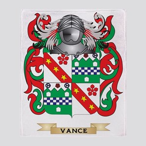 Vance Family Crest (Coat of Arms) Throw Blanket
