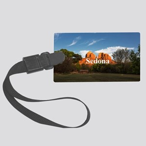 Sedona_2x3_magnet_CathedralRock Large Luggage Tag