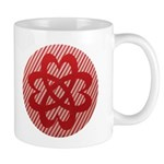 Celtic Knot - Red Hearts Mug