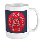 Celtic Knot - Plaid Hearts Large Mug