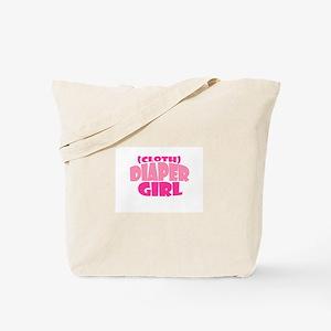 Cloth Diaper Girl Tote Bag
