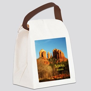 Sedona_11x9_CathedralRocks Canvas Lunch Bag