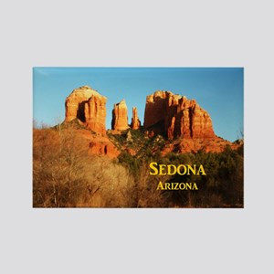 Sedona_11x9_CathedralRocks Rectangle Magnet