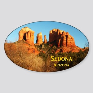 Sedona_11x9_CathedralRocks Sticker (Oval)