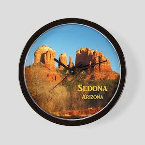 Sedona_11x9_CathedralRocks Wall Clock