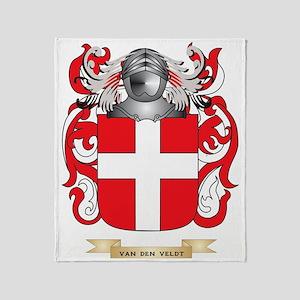 Van Den Veldt Family Crest (Coat of  Throw Blanket