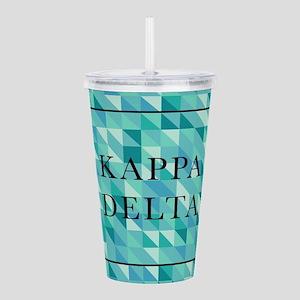Kappa Delta Geometric Acrylic Double-wall Tumbler