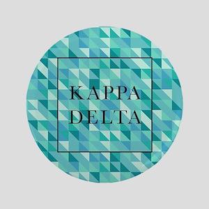 "Kappa Delta Geometric 3.5"" Button"