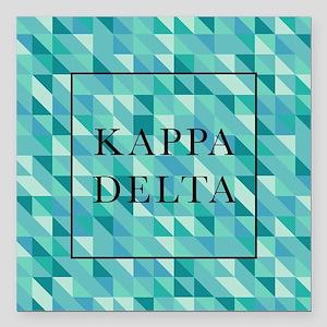 "Kappa Delta Geometric Square Car Magnet 3"" x 3"""