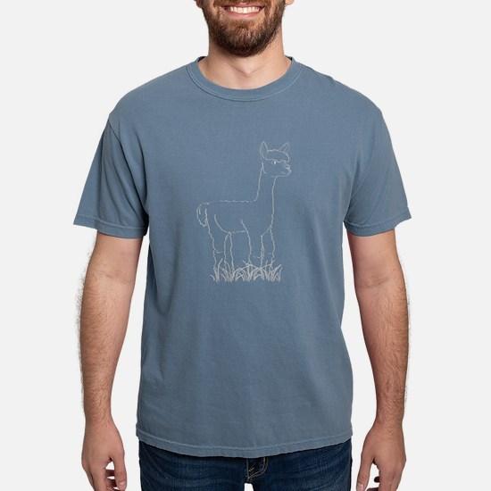 Adorable Alpaca White Outline T-Shirt
