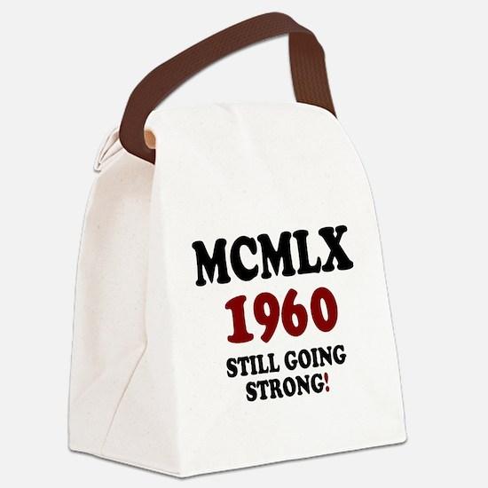 ROMAN NUMERALS - MCMLX - 1960 - S Canvas Lunch Bag