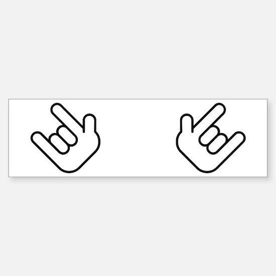 Thizz Hands Bumper Car Car Sticker