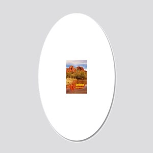 Sedona_5X7_Card_CathedralRoc 20x12 Oval Wall Decal