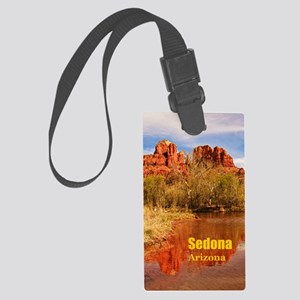 Sedona_5X7_Card_CathedralRock Large Luggage Tag