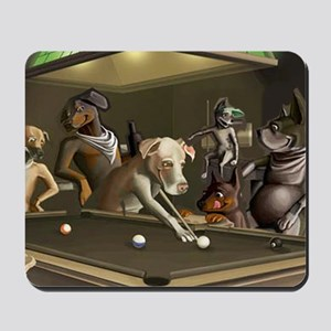 Dogz Playing Pool  Mousepad