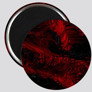 impressive moments full of color-red black Magnet