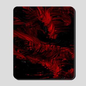 impressive moments full of color-red bla Mousepad