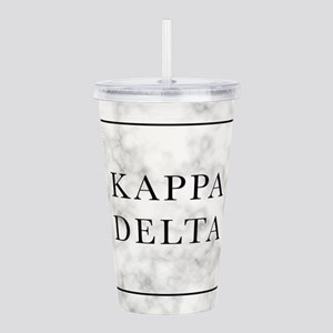 Kappa Delta Marble Acrylic Double-wall Tumbler