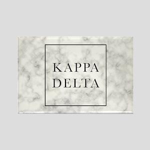 Kappa Delta Marble Rectangle Magnet