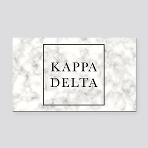 Kappa Delta Marble Rectangle Car Magnet