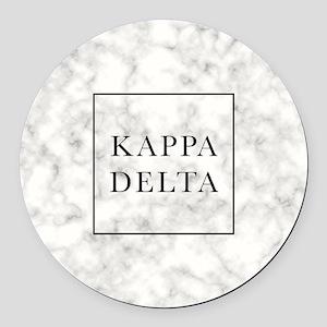 Kappa Delta Marble Round Car Magnet