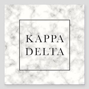 "Kappa Delta Marble Square Car Magnet 3"" x 3"""