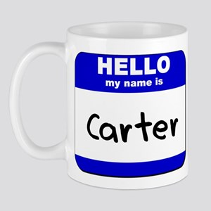 hello my name is carter  Mug