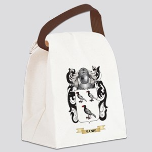 Vanni Family Crest (Coat of Arms) Canvas Lunch Bag
