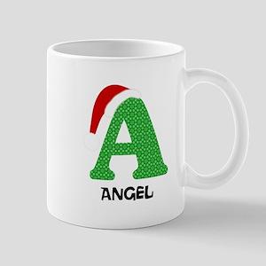 Christmas Letter A Monogram 11 oz Ceramic Mug